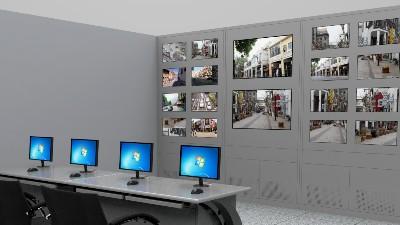 云南小区监控操作台,电视墙定制生产厂家