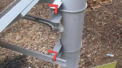 云南监控杆厂家云茂为马龙地质监测项目定制的监控杆完成初验