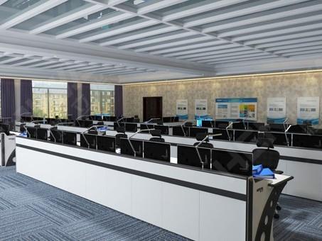 云南监控操作台厂家定制强时代感的全钢质监控操作台
